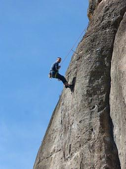 Climber, Scalar, Rock Wall, Escalation, Harness