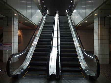 Escalator, Entrance, Toshiba, High Rise Building