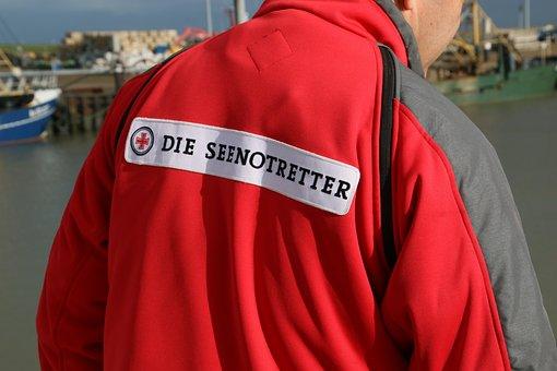 Dgzrs, Distress Rescue, Hooksiel, Water, Sea, Rescue