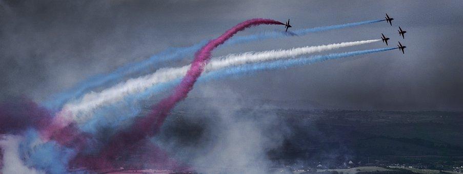 Red, Arrows, Raf, Jet, Plane, Air, Show, Newcastle