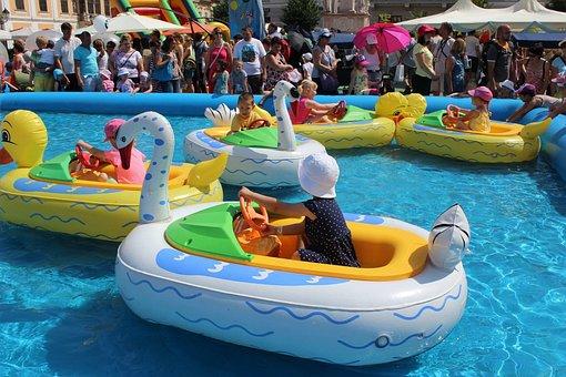 Small Child, Heat, Festival, Győr, Kid, Attraction