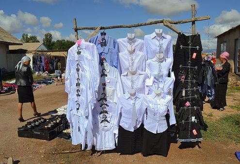 Kyrgyzstan, Market, Central Asia, Shirts
