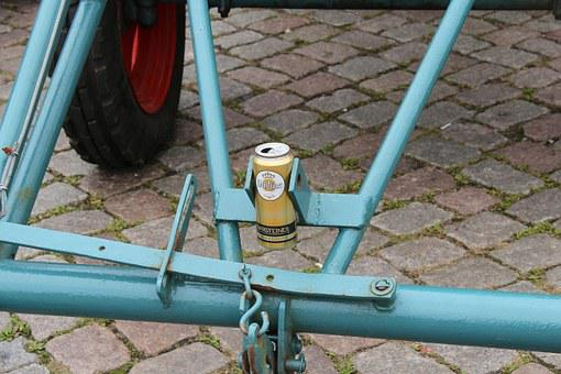 Towbar, Traction Device, Beer Can, Metal, Iron