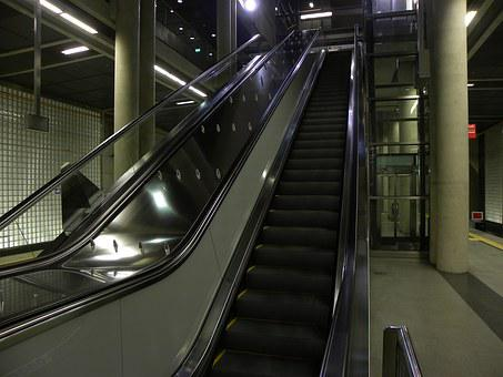 Escalator, Metro, Cologne, Hay Market