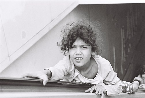 Child, Istanbul, Taksim, Moving Stairway, Escalator
