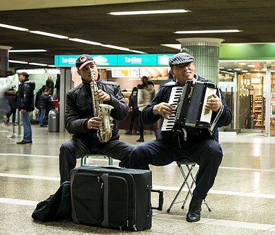 The Musicians, Accordion, Saxophone, Gypsies, Music