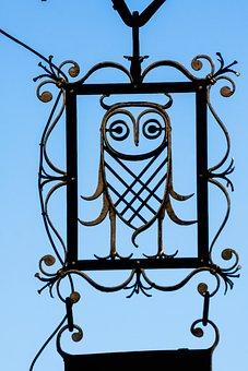 Nasal Shield, Owl, Advertising, Advertising Sign
