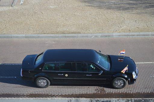 Limo, Limousine, Car, Luxury, President Obama