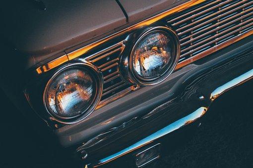 Car, Front, Grill, Retro, Vintage, Auto, Transportation