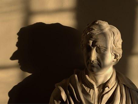 Byron, Statue, Nose, Lord, Bust, Peeling, Shadow, Roman