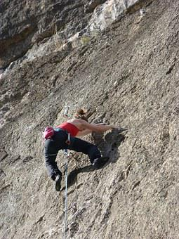 Climber, Escalation, Rock Wall, Siurana, Harness