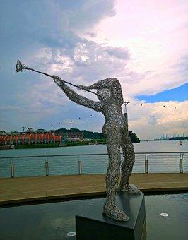 Wire Sculpture, Art, Metal, Statue, Steel, Abstract