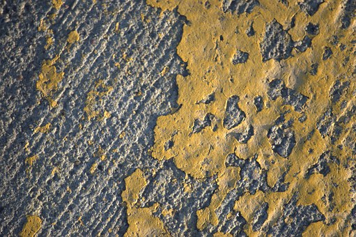Texture, Paint, Road, Yellow, Grey, Rough, Cement