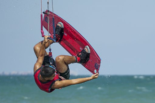 Man, Board, Sea, Wave, Kite, Extreme, Kite Surfing