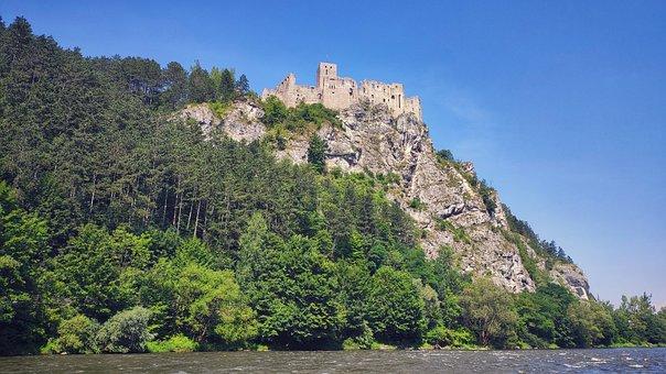 Mountains, Castle, Ruins, Building, Architecture