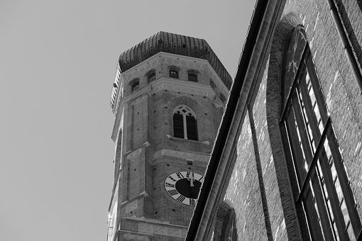 Church, Tower, Dome, Building, Landmark, Munich