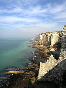 Coast, Ocean, Sea, Cliffs, Landscape, Normandy
