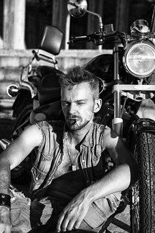 Motorcycle, Motorbike, Biker, Man, Model, Adventure