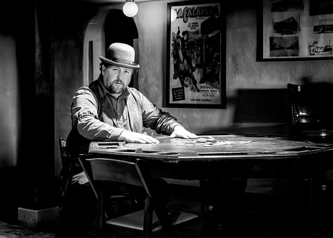 Man, Actor, Poker, Saloon, Cowboy, Western