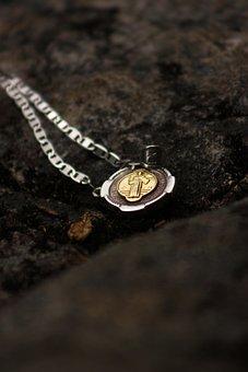 Medal, Religion, Christianity, Catholic, Church, Jesus