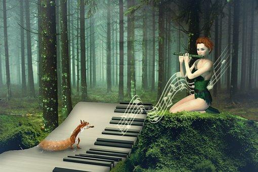 Piano, Music, Fantasy, Keyboard, Musician, Sheet Music