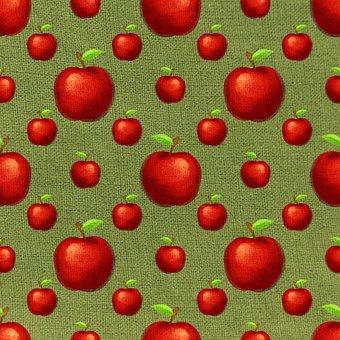 Apples, Fruits, Pattern, Vegetarian, Food, Healthy