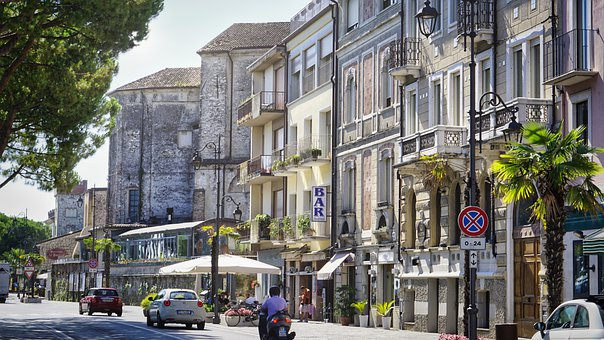 City, Houses, Road, Vacations, Tourism, Italy