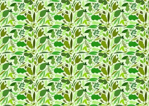 Sheet, Foliage, Leaves, Seamless, Sample, Design