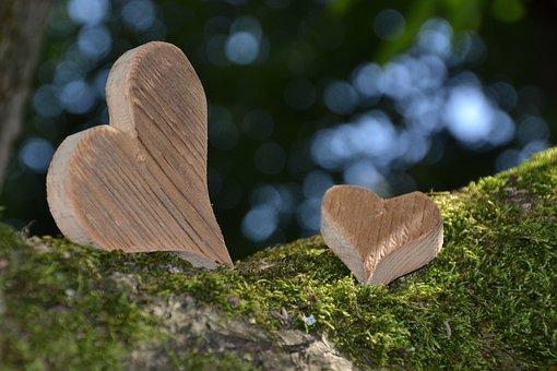 Heart, Wood Heart, Love, Welcome, Wood, Gratitude