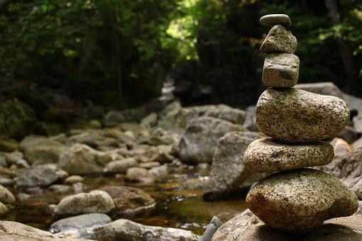 Rocks, River, Nature, Brook, Mountains, Stone