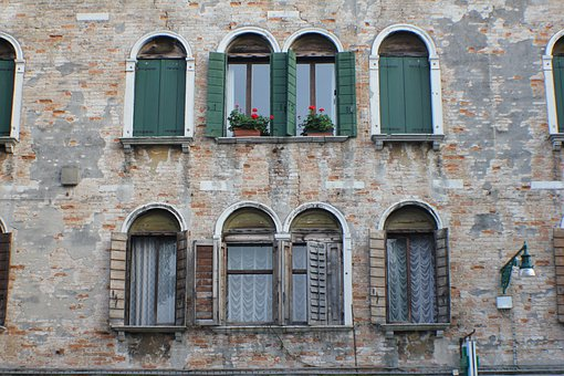 Building, Windows, Wall, Architecture, Old