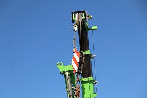 Crane, Site, Construction, Sky, Building, Autokran