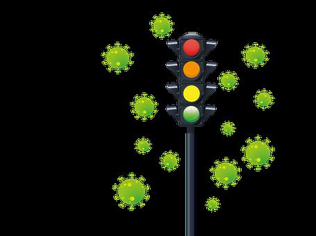 Traffic Lights, Lights, Virus, Colorful