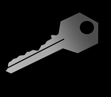 Key, Password, Transparent, In, Cuts, Grey