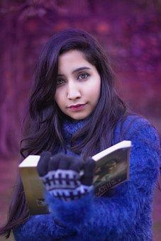 Girl, Girl In Sweater, Winter, Portrait, Hairdresser