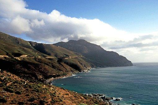 Sea, Mountain, Clouds, Landscape, Ocean, Sky, Scenery
