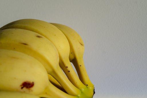 Banana, Fruit, Healthy, Snacks, Food, Yellow, Tropical