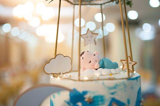 Birthday Cake, Cream Cakes, Cake, Baby, Light, Bokeh