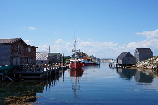 Peggy's Cove, Coast, Boats, Fishing, Novascotia, Canada