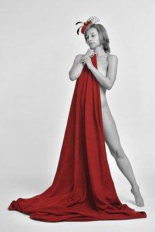 Fabric, Woman, Girl, Vintage, Retro, Legs, Figure, Body