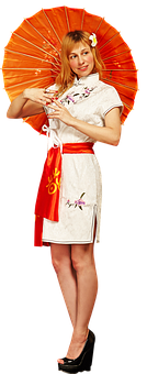 Chinese, China, Girl, Asia, Cheongsam, Evening, Belt