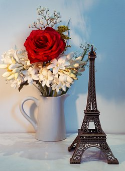 Flowers, Rose, Red Rose, Fresh Flowers, Eiffel Tower