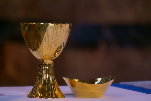 Communion, Eucharist Chalice, Wine, Bread, Holy, Symbol