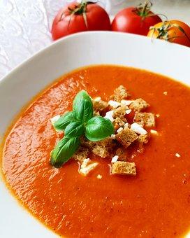 Soup, Cream, Tomato, Dinner, Healthy, Fresh, Kitchen