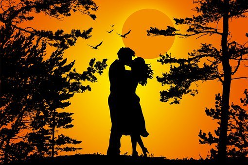 Couple, Silhouette, Love, Romantic, Romance, Happy