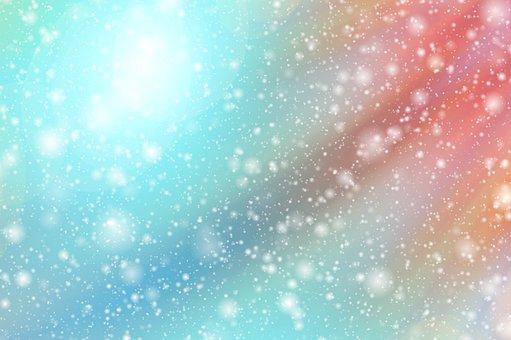 Abstract, Bokeh, Lights, Snow, Star, Advent, Christmas