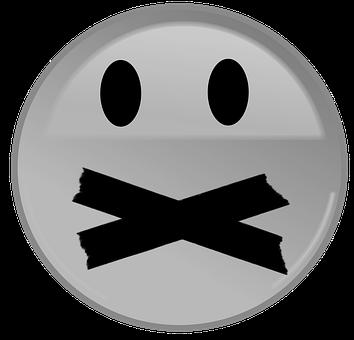 Face, Emoji, Silence, Mute, Gag, Gagged, Breastfeeding