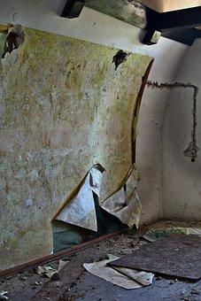 Wall Crash, Destroyed, Broken, Building, Room, Fortress