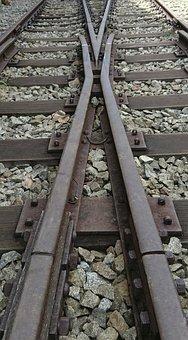 Railway Track, Tracks, Crossing, Empty Track