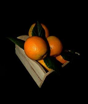 Orange, Fruit, Vrate, Leaves, Fresh, Food, Healthy